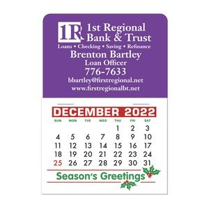 Stick It Decal 1 Month Calendar Pads - Rectangle w/Rounded Corner