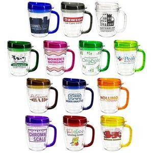 Lakeshore 12 Oz. Tritan™ Mug with Translucent Handle + Lid